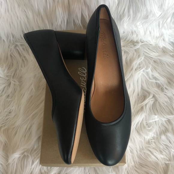 Madewell The Reid Pump In Leather Nwt